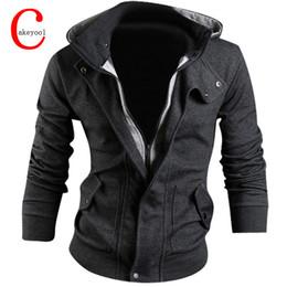 Wholesale hoodie double zipper - Wholesale-New Man Hoody Casual Sweatshirt Mens Brand Suit 3 Colors Fleece Hoodie Jackets Men Sportswear Hoodied Sweatshirt M-XXXL
