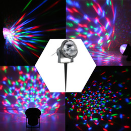 Wholesale Wholesale Magic Water Balls - 3W RGB LED Outdoor Lawn Garden Mini Crystal Magic Ball Project Lamp IP65 Water Resistant Stage Effect Light for Christmas Party L1521