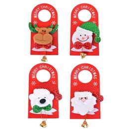 Wholesale Christmas Door Bells Decorations - Wholesale-Hoomall Door Hanging Pendant Drop Bell Ornaments Outdoor Christmas Decoration For Home New Year 2016
