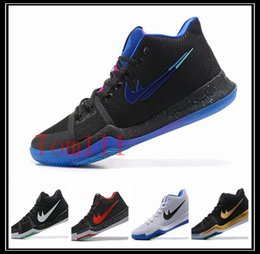 Wholesale Shoes Sports Men S - 2018 Kyrie Irving 3 Men Basketball Shoes Kyrie 2 3 retro Basketball shoes BHM Men s trainers Sneakers High Quality sport athletic Shoes