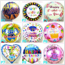Wholesale Mix Foil Balloon - wholesales 18 inch Helium Foil balloon Happy birthday balloon Kids Birthday Party decoration balloon mixed style Free shipping