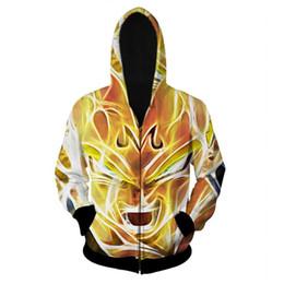 Wholesale Jacket Hoodie Anime Character - Wholesale-Alisister Cool men women 3d jacket anime Super Saiyan Hooded coat zipper outerwear Men cartoon Goku Vegeta hoodies