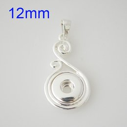Wholesale Yellow Gold Pendant Circle - Partnerbeads Mini Snap pendant high quality Snap base jewelry without Chain Fit 12mm Ginger Snap button KB0443-S