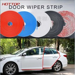 Wholesale Vehicle Color Change - Car Styling Door Protection Strips Rubber Edge Sticker Scratches Vehicle Quite Skoda Fabia Octavia Rapid Superb Yeti a5 a7 2 SUBARU Forester