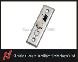 Wholesale Exit Push Button Switch - Wholesale- Door Switch Stainless Steel Door Exit Push Release Button for Access Control, freeshipping
