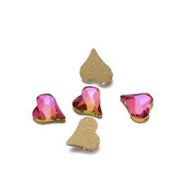 Wholesale heart rhinestones nail art - Nail Rhinestones 500pcs Sharp Heart Shape Glass Stone For Nail Art Decorations Flatback Nail Stickers DIY Craft Art Stones
