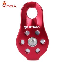 Wholesale Pulley Tool - Wholesale- Xinda Professional Climbing Rope Pulley Outdoor Travel Kit Hot Sale Outdoor Single Fixed Rock Climbing Pulley For Mountaineering
