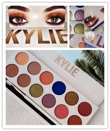 Wholesale Natural Eye Drops - Drop ship Kylie The Royal Peach Palette 12 colors eyes powder vs Holiday Palette Kyshadow Chrismas Gift free shipping