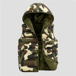 Wholesale Spring Military Jacket Men - 2018 Good Quality Mens Spring Autumn Camouflage Sleeveless Jacket Male Cotton Hooded Casual Camo Military Vest Top