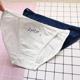 Wholesale Thong Pants Girl - 6 Pcs lot Women's Cotton Briefs Low Rise Lady Girls Breathable Panties Candy Color Sexy Female Underwear Pants Thong Tanga Cueca