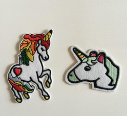 Wholesale Clothing Patterns Sewing - Unicorn Pajamas Costume Patches,Fabric Embroidery Unicorn Clothes Patch,Sew On,Iron-on Patch,Appliques For Biker,Jackets