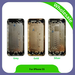 Wholesale Rear Cover Iphone - High Quality New Assembly Repair Parts Rear Glass For iPhone 5S Back Cover Mobile Phone Battery Housing For iPhone 5S