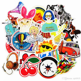 Wholesale vinyl bumpers - Cool Graffiti Stickers 100 Pieces Various Car Motorcycle Bicycle Skateboard Laptop Luggage Vinyl Sticker Graffiti Decals Bumper Stickers