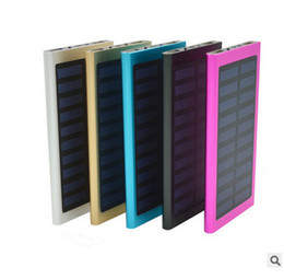 Wholesale Solar Charge Bank - Solar Power Bank 20000mah Highest Capacity Untrl Thin Dual USB Port Phone Charge Powerbank Bankpower