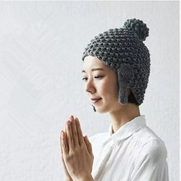 Wholesale Wholesale Beanie Stocking Hats - New Design Lord Buddha Caps Hand Knitted Funny Personality Warm Hat Beanie free shipping in stock