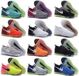Wholesale Barefoot Trainers - New 13Color New Air Mesh Zoom All Out Flywire Barefoot Knit Trainer Men Running Shoes Jogging Zapatos