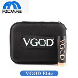 Wholesale Carbon Fiber Thread - Authentic VGOD Elite Mech Mod 24mm Diameter Mechanical Mod 510 Thread Connector Carbon Fiber Switch 100% Original