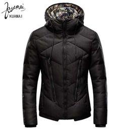 Wholesale Youth Coats Sale - Wholesale- KUAMAI 2016winter Jacket Men Brand Clothing Fashion Warm Slim Hooded Men Cotton Coat Youth Casual Parka Hot Sale XXXL