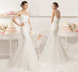 Wholesale Tailor Mermaid Dress - High Quality Custom New Wedding Dress Custom Tailored Fish Tail Garden Dress Long Paragraph Nail Beads Slim Bride Wedding Dresses