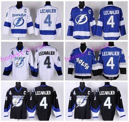 Wholesale Fans Black - Tampa Bay Lightning 4 Vincent Lecavalier Jerseys Ice Hockey Blue White Black Team Color Alternate All Stitched For Sport Fans Quality