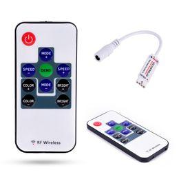 Wholesale 12v Audio Controller Led - Wholesale- Mini IR Remote Controller For 3528 5050 RGB LED Strip Light 12V 10 Key