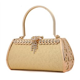 Wholesale bridal party totes - NEW!Grain leather hard shell purse clutches bridal wedding party clutch bag with handle women evening party handbag wedding dress Clutch bag