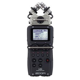 Wholesale Microphone Slr - Wholesale- Professional portable ZOOM H5 Handy Recorder Ultra-Portable Digital Audio Recorder Stereo microphone Interview SLR pen