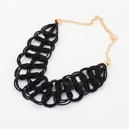 Wholesale Neon Fashion Necklaces - 2015 Colares Femininos New Fashion Necklaces & Pendants Costume Items Neon Choker Statement Set Necklace Women Jewelry