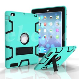 Wholesale Wholesale Defender Cases - Shockproof Defender Case Best Armor Case For iPad 234 iPad Air 5 6 iPad Pro 9.7 Colorful Protector Case With Sticker
