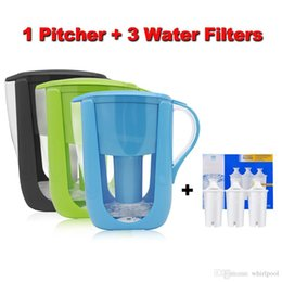 Wholesale Carbon Filtration - Free Shipping Home Straight Drink Filtered Tap Water Kettle Filter 1 Pitcher+3 Cartridge Water Filters Carbon for Brita Filter