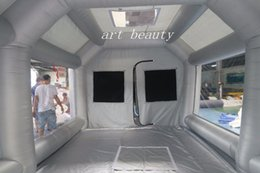 Wholesale Custom Tents - Free shipping 8*4*3mH grey inflatable spray booth paint booth inflatable car paint booth,custom inflatable car spray booth tent