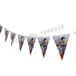 Wholesale Toy Story Decorations Wholesales - Wholesale- 12flags Cartoon Pattern Movie Toy Story Theme Party Birthday Party Decoration Banner For Children kids Party Supplies