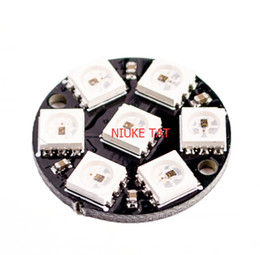 Wholesale integrated board - Wholesale- CJMCU 7 Bits WS2812 5050 RGB LED Full color driving lights Ring Lamp Light with Integrated Drivers Circular development board