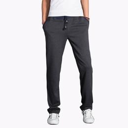 Wholesale Trend Color For Men Casual - Wholesale-Men's Pants 2016 Autumn New Fashion Sweatpants Solid Color Pants Mens Clothing Trend Trousers Men Casual Tracksuit For Men 5XL