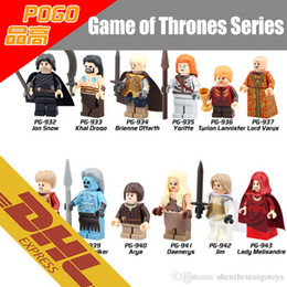 Wholesale 480pcs Mix Order Minifig Game of Thrones Figures Jon Snow Tyrion Lannister A Song of Ice and Fire Mini Building Blocks Figure Toy