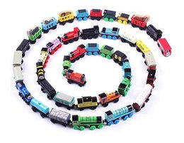 Wholesale Mini Wooden Toy Train - Wooden Mini Trains Cartoon Toys Magnetic 70 Styles Train Friends Wooden Trains & Car Toys Best Christmas Gifts DHL Free Shipping