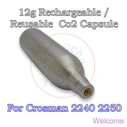 Wholesale New g Rechargeable Refillable Reusable Co2 Cartridge Cylinder Tank Capsule Non thread for Airforce Air Rifle Pistol Airsoft