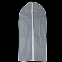 Traje de polvo online-Venta al por mayor - SZS Hot Dust Proof Clothes / Suit / Garment / Dress Cover Bag Clear (45 * 70cm)