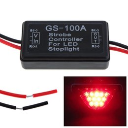 Wholesale Vehicle Brakes - New Waterproof GS-100A LED Brake Stop Light Lamp Flash Strobe Controller Flasher Module for Vehicle AUP_20Y