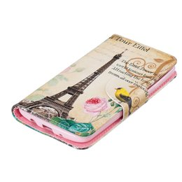 Wholesale Tower Cards Credit - Eiffel Tower Wallet Leather Case For Motorola G4 G4 PLUS Back Stand Holder Credit Card Holder Slot Phone Bags Cases