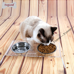 Wholesale Bowl Feeders Stainless - Free shipping!!!Thick Stainless steel cat bowl small dog puppy food feeder