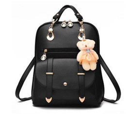 Wholesale Cheap Black Totes Bags - Free Shipping Cheap price Student designed Synthetic Leather shoulder bags backpack for outdoor sports, Tote bags