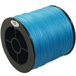 Wholesale Floating Rock - 100m 4 Strands Blue PE Braided Fishing Line Fishing Tackle Textile Line Kite String Road Sub Line