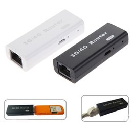 Wholesale Wifi 3g Router Rj45 - Brand New Mini 3G 4G WiFi Wlan Hotspot AP Client 150Mbps RJ45 USB Wireless Router For Mini 3G WiFi Router