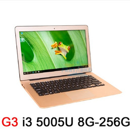 Wholesale Notebooks Webcam - 8GB Ram 256GB SSD Ultrathin Intel Dual Core i3 5005U Fast Running Windows 8.1 system Ultrabook Laptop Notebook Computer 13.3inch
