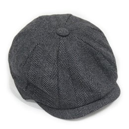Wholesale Male Models Cap - Wholesale-Fashion Octagonal Cap Newsboy Beret Hat Autumn And Winter Hats For Men's International Superstar Jason Statham Male Models