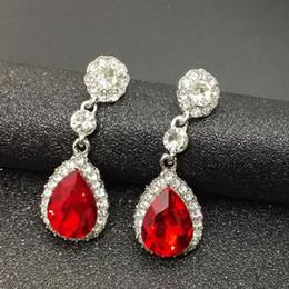 Wholesale Diamond Dangle - New Fashion Earrings Sleek Diamond Earrings Earbob Lady All-Match Drop Earrings For Women Wholesale SY- 55