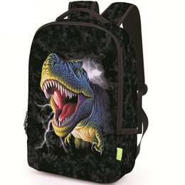 Wholesale Pictures Mouth - Dinosaur mouth backpack Cool Tyrannosaurus daypack Picture schoolbag Casual rucksack Sport school bag Outdoor day pack