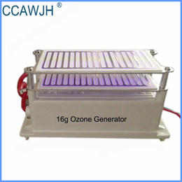 Wholesale Ozone Generator Free Shipping - 16g Ozone Generator with Double Ceramic Plates Get Rid of Odor and Kill Bacteria Good Heat Dissipation +Free Shipping