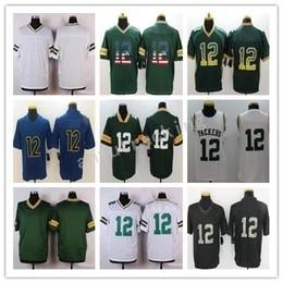 Wholesale Green Flash Games - 2017-2018 NEW Men Game Stitched Style PACKERZ #12 RODGERS BLACK White Green Blue MIX ORDER football jerseys